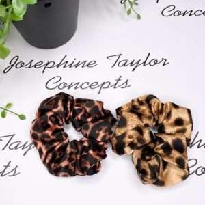 leopard print srunchies